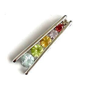 6 Rainbow 🌈 Gemstones 💎 in Sterling Silver 925
